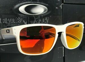 NEW Oakley HOLBROOK Matte White POLARIZED Galaxy Ruby lenses Sunglass 9102