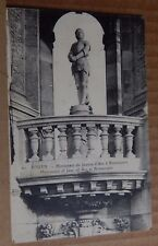 Postcard WW1 Rouen Joan Of Arc Monument Soldier Message Censor Stamp