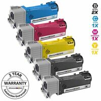 5 Pack BLACK & COLOR 106R01597 Toner Cartridge for Xerox Workcentre 6505N 6505dn