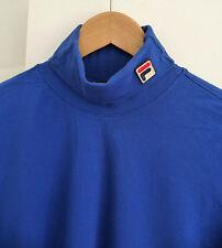 FILA UOMO TURTLENECK LOGO T-SHIRT longsleeve L VINTAGE sportswear 90s linea bianca
