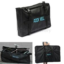 MTB Road Bike Bicycle Cycling Folding Carrier Bag Carry Pouch Case Black 26""