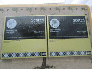 TWO SEALED SCOTCH 207-1/4-R90 HIGH OUTPUT/LOW NOISE REEL TO REEL TAPES