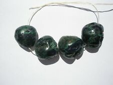 Natural Azurite/Malachite med-lg Nugget Beads - 16-18x16-17x8-11mm - 4