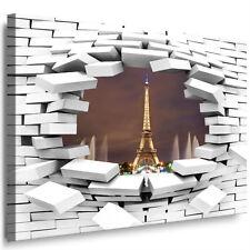 Fertige Bilder auf Leinwand XXL Wandbild Mauerloch Kunstdruck Turm in Paris 308