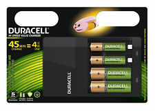Duracell CEF14 Battery Charger with 2x AA and 2x AAA Batteries
