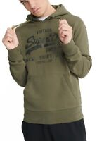 Superdry Bonded Logo Overhead Hoodie Sweatshirt Hooded Top Chive Green