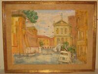Vintage KURT POLTER 'Nazionale Street ROME' Italy Mid Century MODERNIST Painting