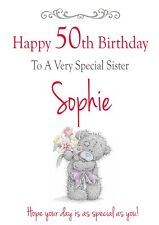 Personalised Birthday Card Sister Mum Daughter Friend Any Relation All Ages