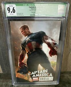 CAPTAIN AMERICA #1 CGC 9.6 variant signed by Ryan Meinerding with COA NO RESERVE