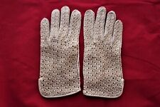 Vintage Fownes Genuine Pigskin Large Size Women's Gloves - Tan Shorties