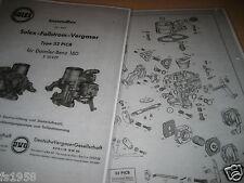 Mercedes 180 Ponton,  Solex-Fallstrom-Vergaser Typ 32 PICB - Ersatzteileliste