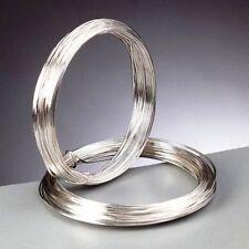 0.4 mm (26 gauge) plaqué argent artisanat/bijoux/fleuriste fil 20 mètres
