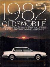 Oldsmobile 1982 USA Market Sales Brochure Omega Cutlass Delta 88 98 Toronado
