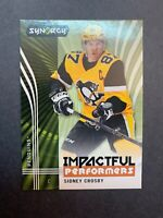 2019-20 Upper Deck Synergy Impactful Performers #10 Sidney Crosby Pittsburgh 🐧