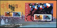 UNITED STATES  1996 CYCLING SET & SOUVENIR SHEET DUAL CANCELED  FIRST DAY COVER