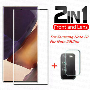 For Galaxy Note 20 Ultra Tempered Glass Screen Protector & Camera Lens Cover