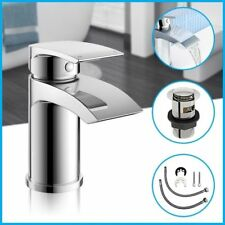 Modern Basin Sink Tap Square Mixer Chrome Small Mono Bathroom Cloakroom Tap