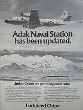 12/1976 PUB LOCKHEED P-3C ORION US NAVY ASQ-114 ADAK NAVAL STATION ORIGINAL AD