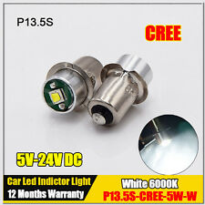 2x P13.5S CREE 5W LED Flashlight Bulb 5V-24V For Maglite Dewalt Makita Milwuakee