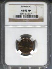 1980 D NGC MS 65 RD  PENNY