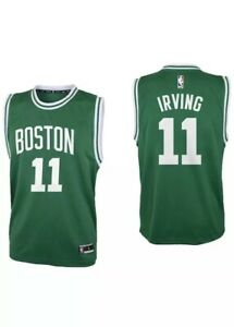 Outerstuff Kyrie Irving Boston Celtics #11 Green Youth Sz Sm Road Replica Jersey