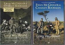 LONG WAY ROUND & DOWN Ewan McGregor*Charlie Boorman Motor Bikes BBC DVD *EXC*
