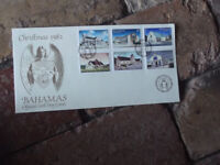 1982 BAHAMAS CHURCHES CHRISTMAS OFFICIAL FIRST DAY COVER