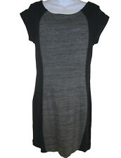rag & bone KNIT Terry Moto Dress Gunmetal sz L NEW W225T456F