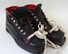 vtg Garmisch Black Leather Ski Boots Made in Germany Womens Size 6N