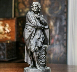 Charming Large Antique Spelter Metal Victorian Frenchman Statue Bust
