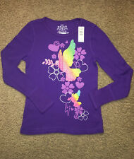 The Childrens Place waffle knit long sleeve school top shirt girl XL 14 purple