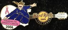 """Hard Rock Cafe LAKE TAHOE 2006 """"BOARDING FOR BREAST CANCER"""" Guitar PIN #35284"""