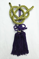 2 In 1 Chinese Purple Kiku Knot Golden Kin Rope In-Car Rearview Mirror Hang Act