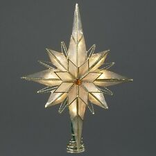 Capiz Classical Multi Point Bethlehem Star Christmas Tree Topper with 10 Lights