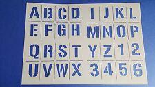 Schablonen 178 A - Z  Vintage Stanzschablone Shabby Möbel Wandtattoos Wandbilder