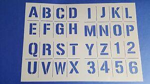 Schablonen 178 ABC Schriftschablonen Zahlen Ziffern Buchstaben Text Wandtattoos