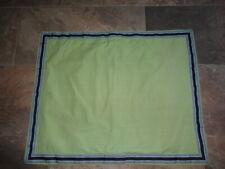 Nautica Standard Pillow Sham solid Green, Blue trim - Beachcomber
