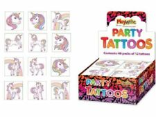 12 Assorted Girls Unicorn Tattoos Christmas Eve Box Stocking Party Bag Filler