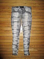 Lucky Brand Jeans Charlie Super Skinny Gray tie die Women's Size 25