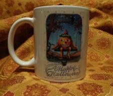Happy Halloween Pumpkin Mug Vintage Advertising Coffee Tea Pumpkin Man