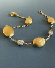 Marco Bicego 18ct Gold Nuggets Diamond Bracelet Goa Africa 0.49ct