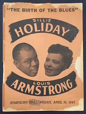 "Billie HOLIDAY & Louis ARMSTRONG: Original 1947 ""Birth of the Blues"" Program"