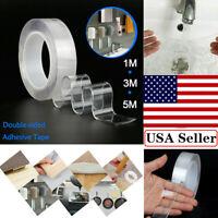 Nano Magic Tape Double-Sided Traceless Washable Adhesive Invisible Gel Anti-Slip