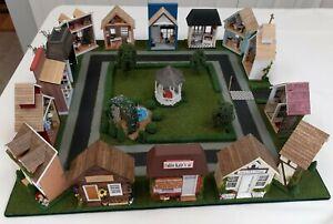 Miniature Village Square, 1/4 Scale Americana Town
