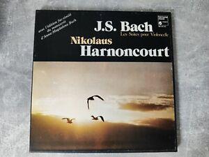 Harmonia Mundi France HM 381-83 3xLP Bach The Cello Suites Harnoncourt