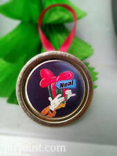 Goofy Personalized Christmas Tree Ornaments  Lot of 4 2018  Mason Jar lid Disney