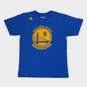 Adidas NBA Golden State Warriors T-Shirt Iguodala Sports Basketball Tee Blue M