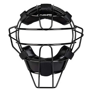 Champro Traditional 27 Ounce Adult Umpire Catchers Mask w/ Ergo Fit Pads, Black
