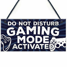 Gaming Do Not Disturb Bedroom Door Sign Birthday Christmas Gamer Gift Brother