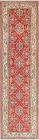Super Kazak Pakistani Oriental Runner Rug New Hand-Knotted Wool Geometric 3x9